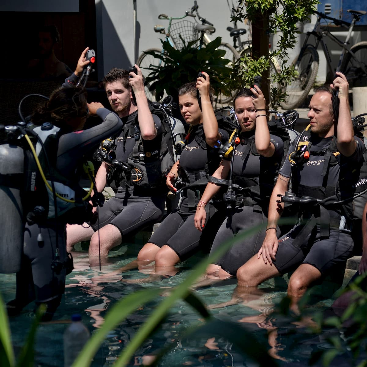 Hands-on experience in a busy diveshop