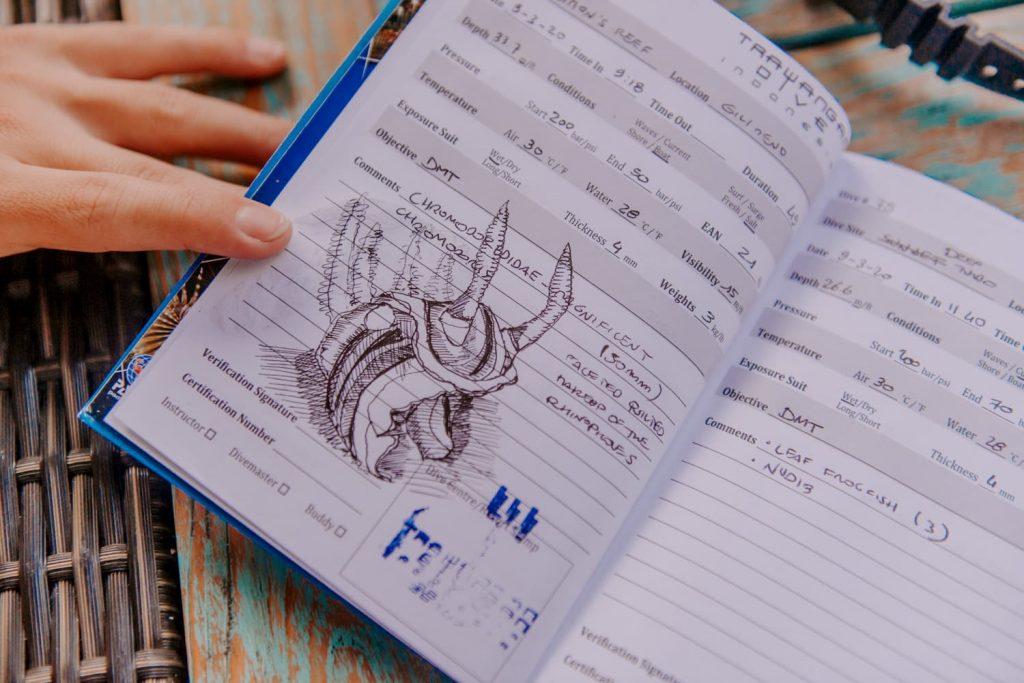 Divemaster logbook