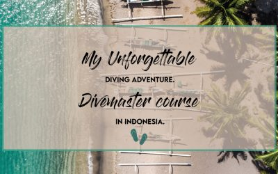 My unforgettable diving adventure. Divemaster course in Indonesia.